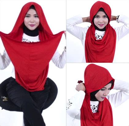 tutorial hijab menggunakan aksesoris anting tutorial hijab dengan anting pakai jilbab instan