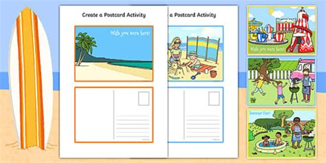 sparklebox postcard template create a postcard activity postcard postcard design