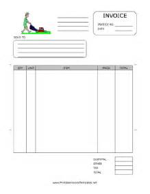 lawn mowing invoice template free lawn care invoice template