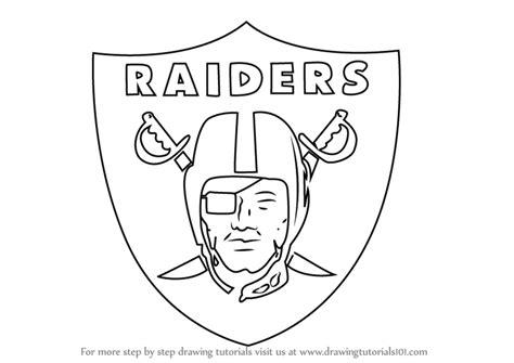 step  step   draw oakland raiders logo