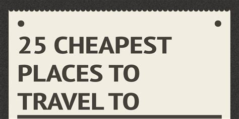 where is the cheapest place to get a fresh christmas tree 25 cheapest places to travel to by katimari infogram