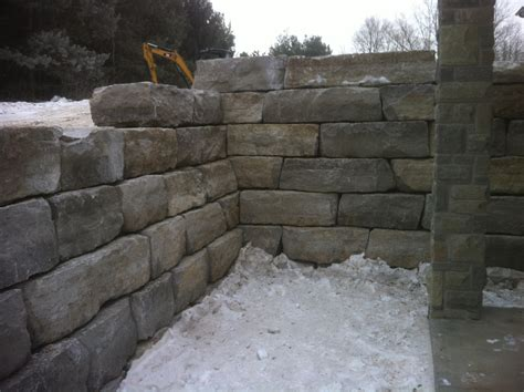 armour stone wall stoneworks landscape construction