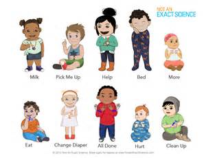 Print out and put on your wall it includes babies signing 10 most