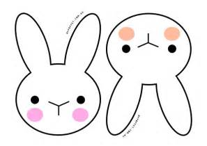 rabbit cut out template bunny cut out template