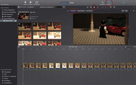 tutorial imovie stop motion bilder zu einem film zusammenf 252 gen schritt f 252 r schritt