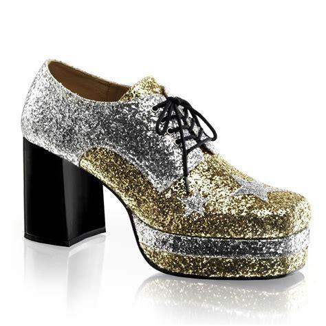 funtasma 3 5 quot silver gold glitter platform retro