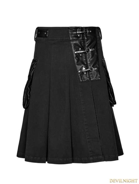 black steunk half pleated skirt for devilnight co uk