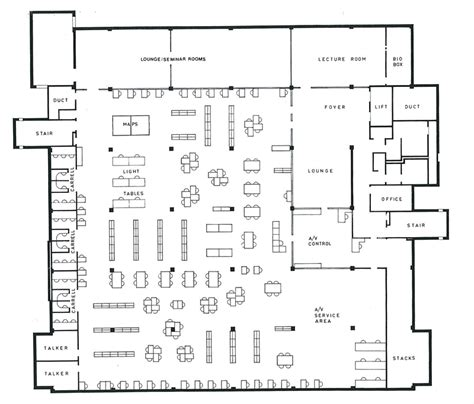 floor plan furniture store 1972 2012 floor plans of robertson library