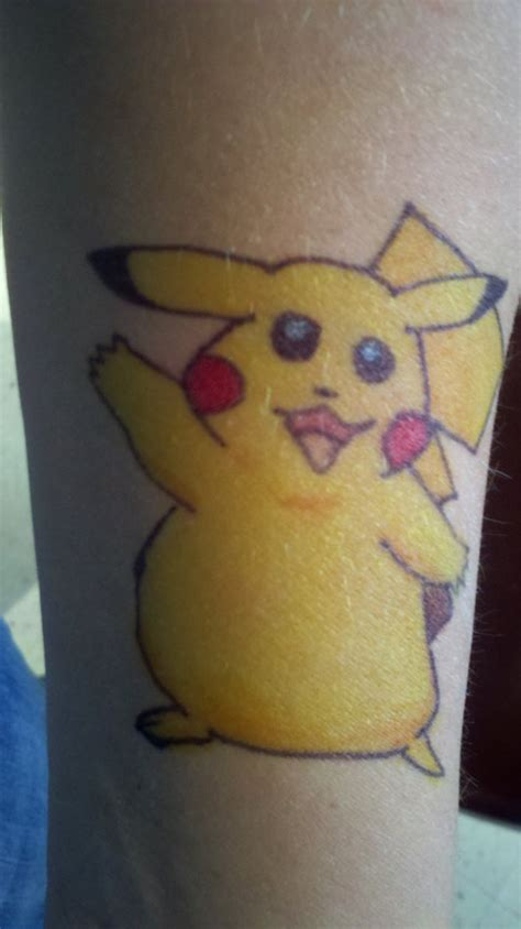 pikachu sharpie tattoo by megido23 on deviantart