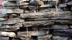 Waterfall Decoration For Homes rock wall water fall fountain youtube