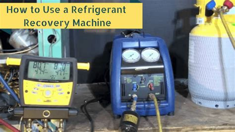 What Is A Refrigerant Recovery Machine by How To Use A Refrigerant Recovery Machine Top Secrets