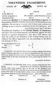 Civil War 1861 Essay by Dispatches From Company Q Printable Us Army Enlistment