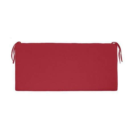 red bench cushions home decorators collection sunbrella jockey red outdoor
