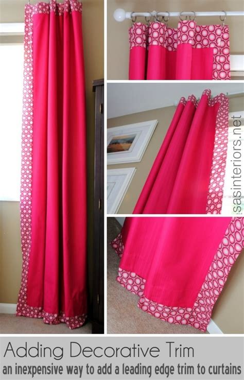 decorative trim for curtains how to add decorative trim to curtains for cheap jenna