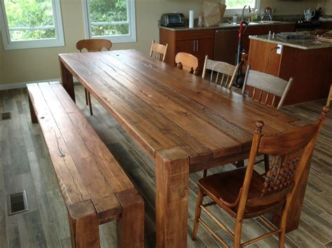 plank kitchen table the great indoors our reclaimed barnwood table