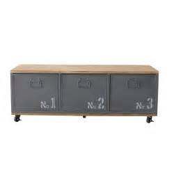 metal cabinet on wheels grey metal cabinet on wheels l 119 cm douglas maisons du