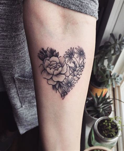 flower heart tattoos 32 sleeve tattoos ideas for inspo