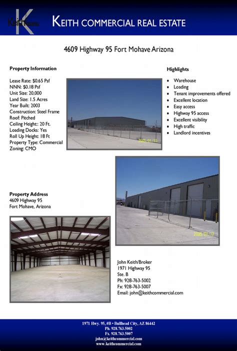 Pictures For Keith Commercial Real Estate In Bullhead City Az 86442 Commercial Real Estate Marketing Templates
