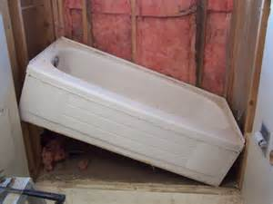 how to install a bathtub