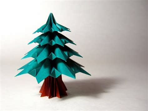 christmas tree paper folding origami fir tree francesco guarnieri