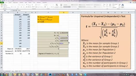 test t student excel how to calculate manually student s t statistic