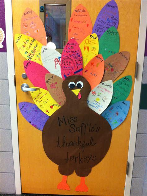 thanksgiving door decorations our thankful turkey door each student decorates their