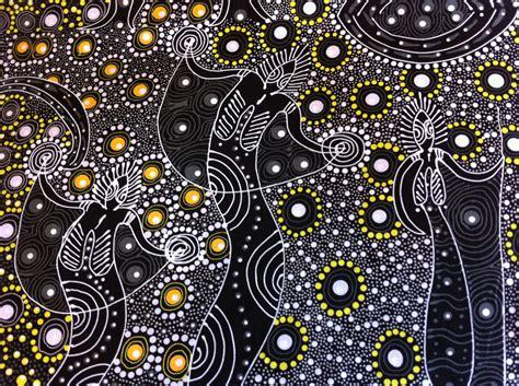 printable fabric australia australian aboriginal print fabric dancing spirit black