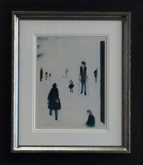 fine art floor ls figures in the park by l s lowry signed limited edition