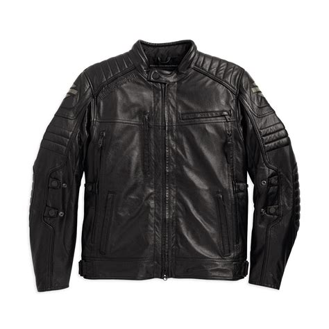 mens leather riding jacket harley davidson mens donoghue leather riding jacket