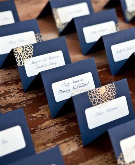 deco table name card template inspiration couleur du bleu non du navy