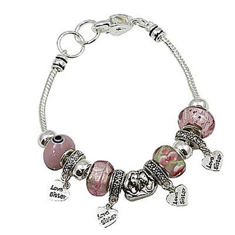pink murano charm bead bracelet pandora