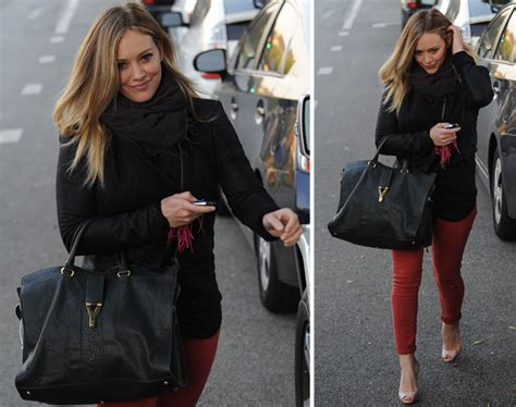 Other Designers Hilary Duff With Designer Travel Bags by Hilary Duff S Awesome Bag Collection Just Keeps Coming