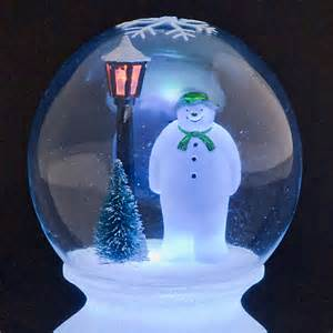 sale on battery operated the snowman globe with multi