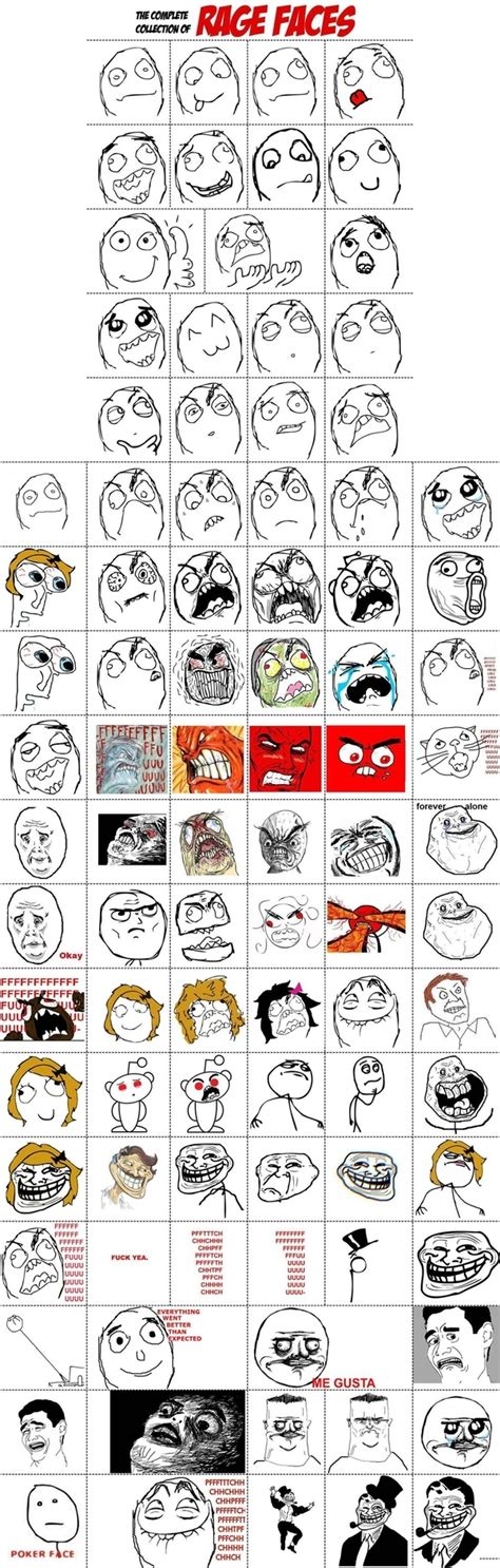 All Meme Faces Names - all the rage faces pic