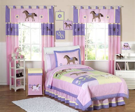 girls full comforter set pink pony horse bedding for girls full queen comforter set