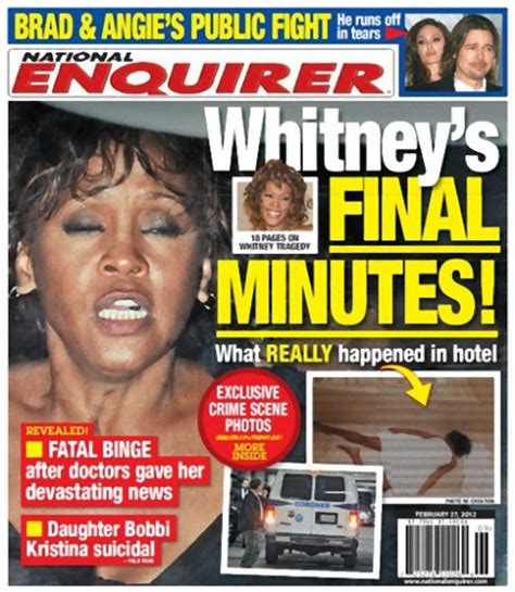 upclose national enquirer whitney houston photo in tabloid covers for the week of february 27 2012 whitney