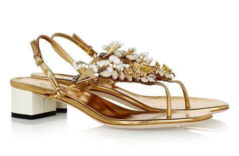 sandals weddings gold embellished bridal sandals by gucci