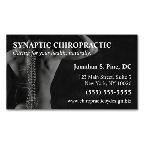 chiropractic business cards templates chiropractor photo appointment cards sided standard