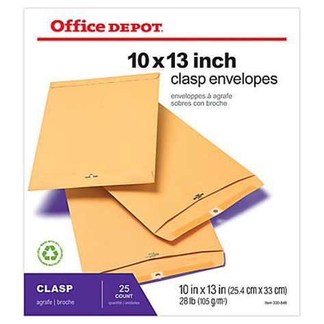 Office Depot Envelopes Office Depot Brand Clasp Envelopes 10 X 13 Brown Pack Of