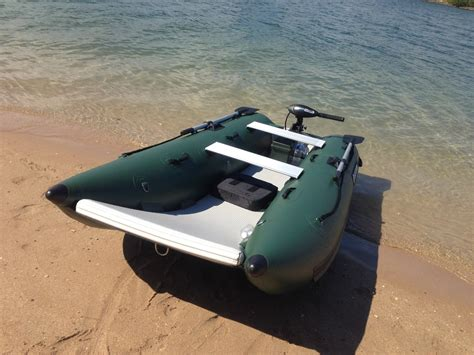 fishing out of inflatable boat inflatable catamaran nano cat nc290