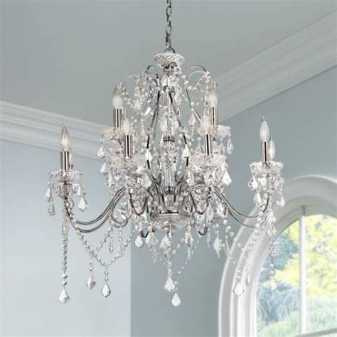 ls plus crystal chandeliers vienna full spectrum 30 quot w chrome crystal grand