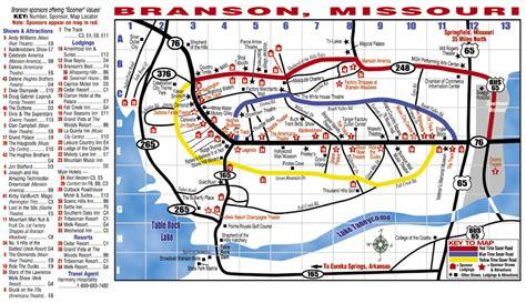 missouri map branson branson mo map my
