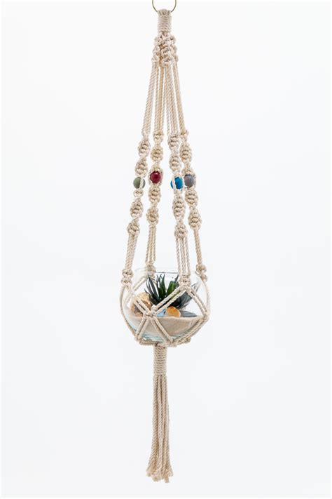 macrame plant hanger by thehousephoenix on etsy