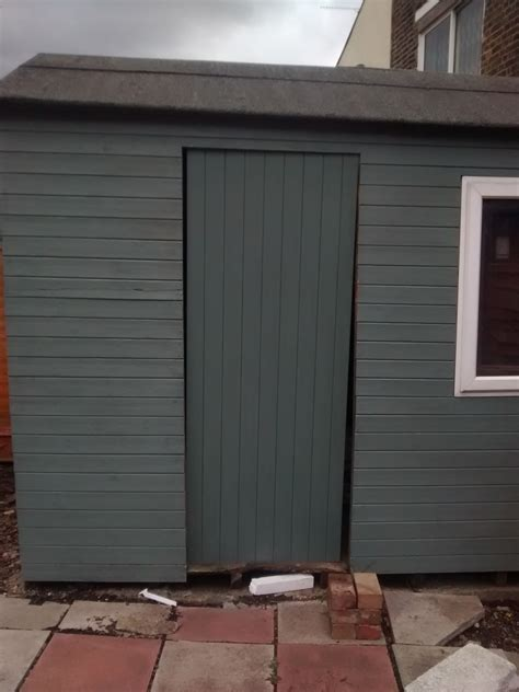 door frame hanging hanging a new shed door on a frame that is not level
