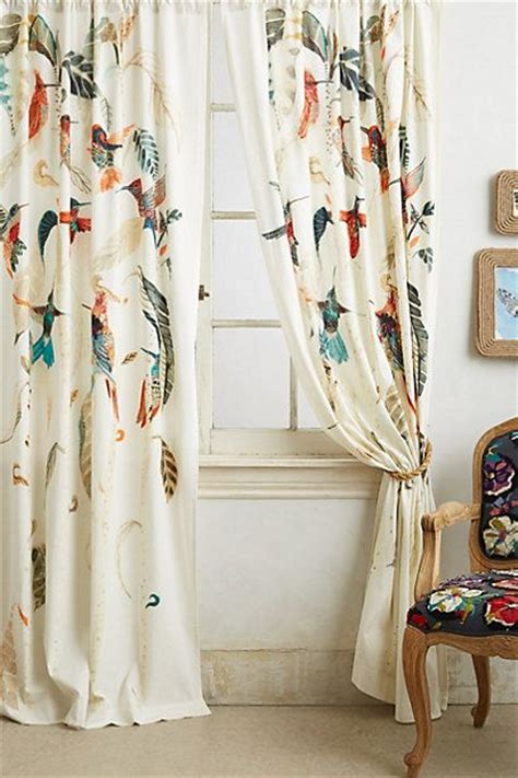 curtains with birds on them anthroregistry for the home pinterest i am bird