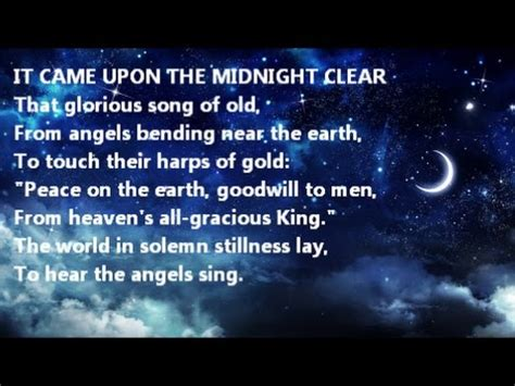 It Came With Upon Midnight Clear By Suzanne Brockman it came upon the midnight clear instrumental piano carol version lyrics by edmund sears willis