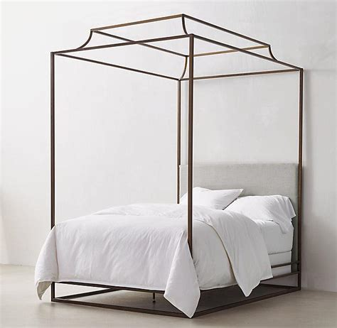 metal canopy bed ellipse metal canopy bed west elm