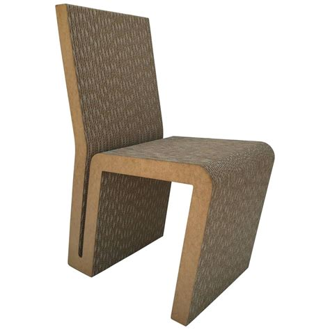 Frank Gehry Furniture by Easy Edges Cardboard Side Chair By Frank Gehry For Sale At
