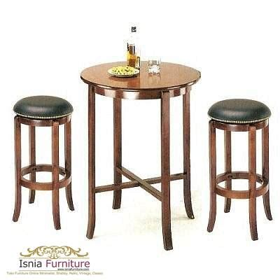 Stool Bulu Kayu Jati Hitam bar stool jok hitam model kursi cafe dan kursi bar