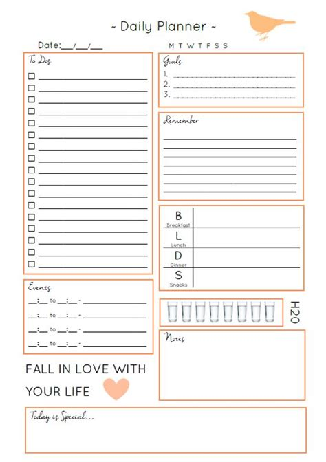 daily study planner template i am design and facts on